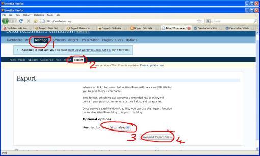 Mengimport fail .xml dari www.fairuzhafeez.com